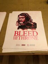 NEW Game of Thrones Poster HBO American Red Cross Promo Exclusive Iron Throne