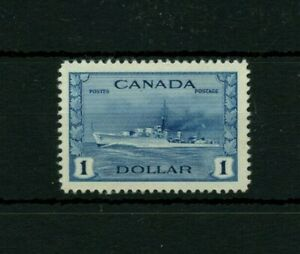 #262  $1.00 Destroyer VF MHH Cat $80 Canada mint