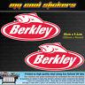 2 x Berkley Fishing 20cm Vinyl Sticker Decal, for Boat 4X4 Car Tackle box Esky