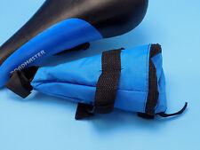 ROADMASTER RACING BICYCLE BIKE SADDLE SEAT, BLACK & BLUE w/ACCESSORY TOOL BAG