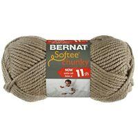 Bernat Small Acrylic Softee Chunky Ball Of Yarn, Clay - Yarn