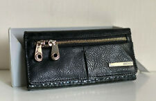NEW! KENNETH COLE REACTION BLACK TRIFOLD FLAP CLUTCH WALLET $50 SALE