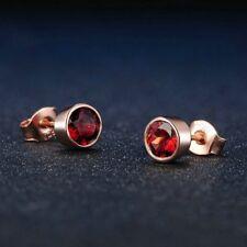 Pendientes  plata S925, Oro Rosa. Granate Natural. Amor vitalidad regenerar