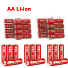 EBL 1.5V Rechargeable AA Li-ion Battery 3000mwh Lithium Batteries Lot + Case Box