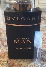Bvlgari Man In Black Eau de Parfum 10ml Glass sample Spray Men's EDP Bulgari