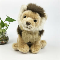 Lifelike Lion Friend Brown Children's Plush Stuffed Animal Toys Soft Toys Gift