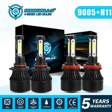 Combo 9005 H11 LED Headlight Bulb For GMC Sierra Silverado 08-17 1500 2500 3500