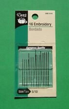 Dritz Embroidery Hand Sewing Needles - Size 5/10 - 16 pack