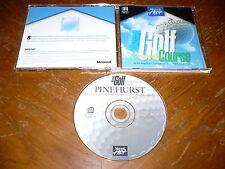 Microsoft Golf 1.0 Pinehurst Championship Course Expansion PC CD-ROM Windows 3.1