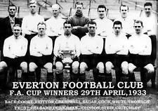 EVERTON Équipe De Football Photo > Saison 1932-33