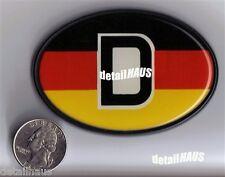 OVAL DEUTSCHLAND D GERMAN BADGE - VW BMW MERCEDES AUDI PORSCHE - FREE SHIP