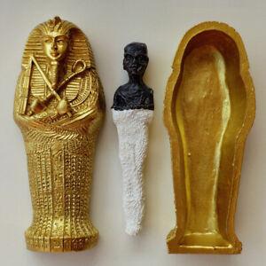 "Fine Old Egyptian Ushabti Pharaoh Mummy Coffin Statue Figurine  7 1//4/"" Tall"