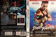 Street Fighter - JEAN  CLAUDE VAN DAMME, KYLIE MINOGUE DVD GENUINE R4  RARE OOP
