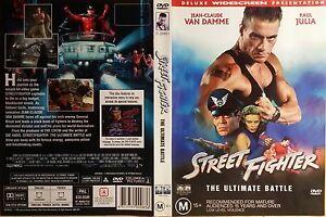 Street Fighter DVD JEAN  CLAUDE VAN DAMME, KYLIE MINOGUE GENUINE R4  RARE OOP