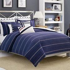 Nautica Winston Navy Blue Duvet Cover, King sailing boat nautical Bedroom Cotton