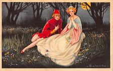 Colombo Artwork Postcard Fairy Tale Man and Woman in Forest at Night~112881