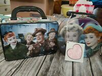 2 I Love Lucy Tins Fred Ethel Ricky Tv Show Empty Lucille ball classic tv vandor