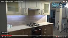 Ex Display top quality Oak & Ivory kitchen with Dekton Worktops & AEG Appliances