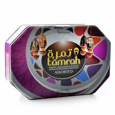 Tamrah Luxe Halal Assorties Chocolat Couvert dates avec Amande tin box 700 g