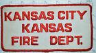 "KANSAS, KANSAS CITY FIRE DEPT VINTAGE JACKET 7.5"" PATCH"