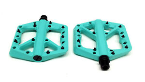 Crank Brothers Stamp 1 Platform Pedals, Small, Turquoise