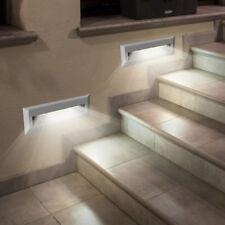 2er Set LED Außen Bereich Wand Leuchten Treppen Balkon Stufen Lampen grau EEK A