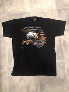 Vtg Original 1985 Harley Davidson 3D Emblem Eagle motorcycle shirt sz L