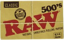 RAW 500's Classic Natural Unrefined Rolling Paper 1 1/4 79mm Size (1 Pack)