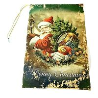 Christmas Ornament Book Trinket Box Distressed Victorian Look Santa Bag Toys