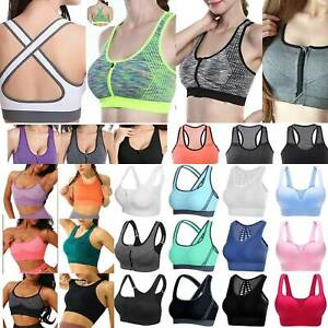 Plus Ladies High Impact Supports Bounce Control Workout Sports Gym Crop Tops Bra