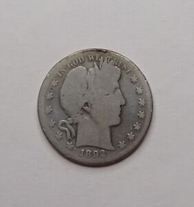 1892-S Barber Silver Half Dollar - KEY Date!
