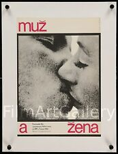 A MAN AND WOMAN Czech poster Claude Lelouch UN HOMME ET UNE FEMME filmartgallery