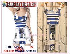 R2D2 Star Wars Bodycon Dress Milk Artoo 2.0 Black Red Eye Cosplay Fancy 8 10 12