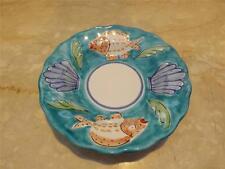 Vintage La Musa Italian Handpainted Bowl Plate Fish Scene Italy Multiple Qty