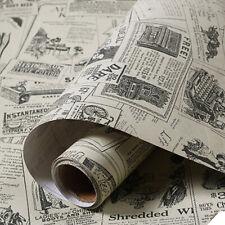 Retro Newspaper Classical Wallpaper Rolls Vinyl Self Adhesive Contact Paper 3M