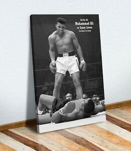 Muhammad Ali Sonny Liston VINTAGE BOXING CANVAS WALL ART PRINT PICTURE PORTRAIT