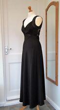 ROMAN LONG BLACK SHEER BACK EVENING DRESS SIZE 10 BRAND NEW