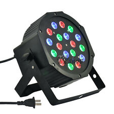 PROIETTORE DMX 512 EFFETTO LUCE FLAT PAR LIGHT RGB W ALTA LUMINOSITA 18 LED