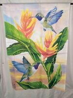 Hummingbirds House Flag 28x40 Double Sided