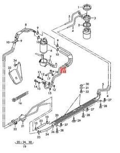 Genuine AUDI VW SKODA A4 Avant S4 quattro Cabrio 1 Set Fuel Pipes 059130307AM