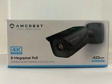 UltraHD 4K 8MP Outdoor IP Camera, 3840 x 2160, 131ft, Night Vision, 4.0mm, Black
