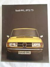 Saab 99 L range brochure 1972/73