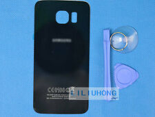 For Samsung Galaxy S6 edge curved surface-Black Glass Battery Back Door Cover