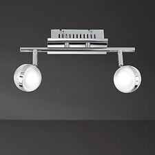 Wofi Lámpara Led de Techo Fulton Cromado Look Retro Ajustable Vidrio Acrílico
