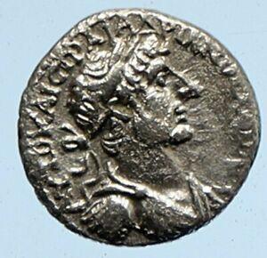 HADRIAN Authentic Ancient Caesarea Cappadocia OLD Silver Roman Coin NIKE i95873