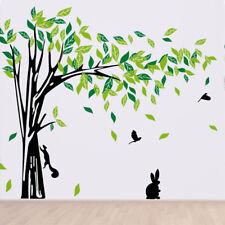 Woneart Wandaufkleber Wandtattoo Wandsticker Tiere Baum Wandbilder Aufkleber