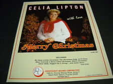 CELIA LIPTON says MERRY CHRISTMAS with love Original 1988 Promo Poster Ad mint