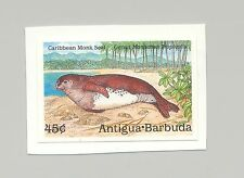 Antigua #1234 Caribbean Monk Seal 1v Imperf Proof on Card