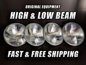 OE Front Halogen Headlight Bulb for Lincoln Mark IV 1972-1976 High & Low Beam x4