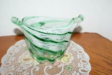 AWESOME Vintage Murano Vase Table Center Glassware Old Italian Glass Decoration